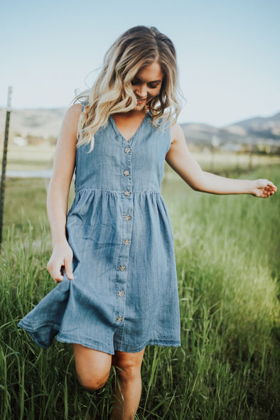 Scout Denim Jumper Dress
