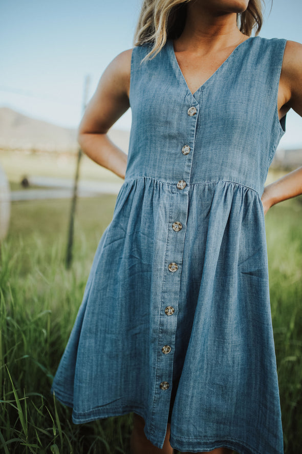 Scout Denim Jumper Dress - Robbie + Co.