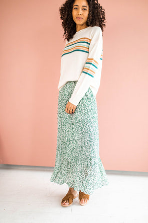 Lily Street Skirt in Sage - Robbie + Co.