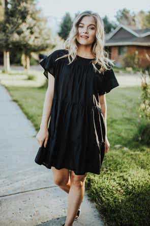 Tatum Dress in Black - Robbie + Co.