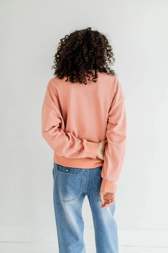 Norman Popover Sweatshirt in Ginger - Robbie + Co.