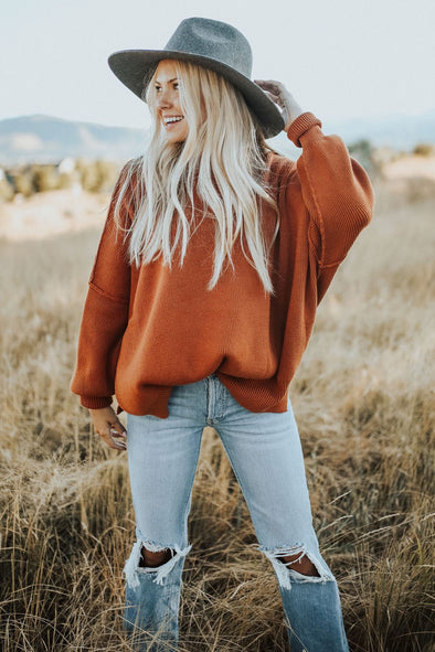 Free People Easy Street Tunic in Copper - Robbie + Co.