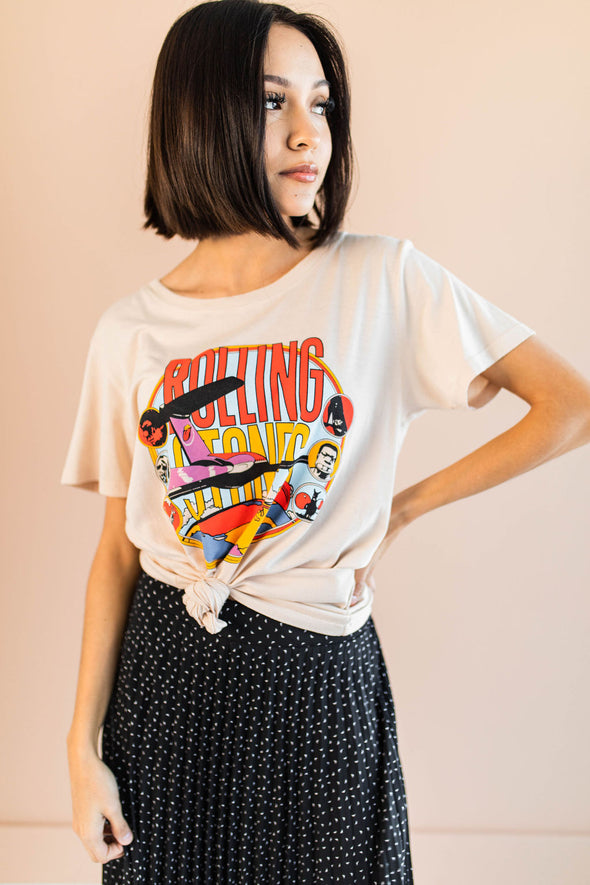 Daydreamer Rolling Stones Around The World Tee - Robbie + Co.