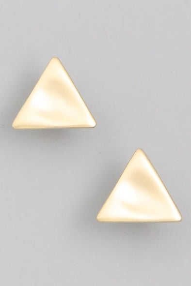 Triangle Stud Earrings - Robbie + Co.