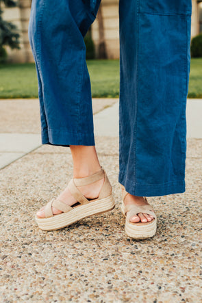 Fatima Esapdrille Sandals in Natural - Robbie + Co.
