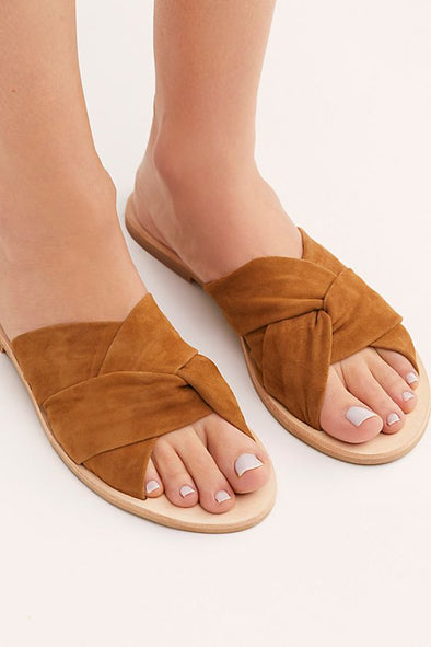 Free People Rio Vista Slide Sandals in Tan - Robbie + Co.