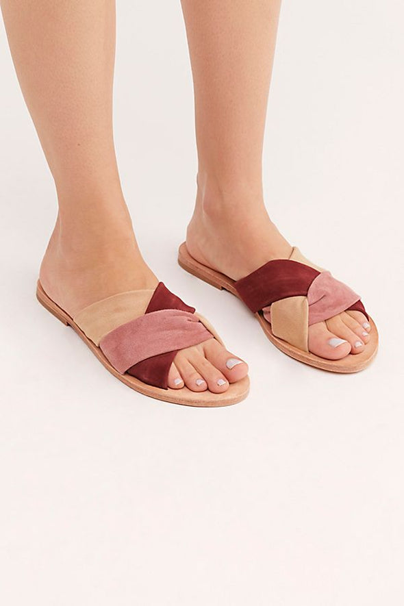 Free People Rio Vista Slide Sandals in Pink Combo - Robbie + Co.