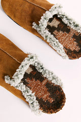 Free People Destino Woven Flat in Honey