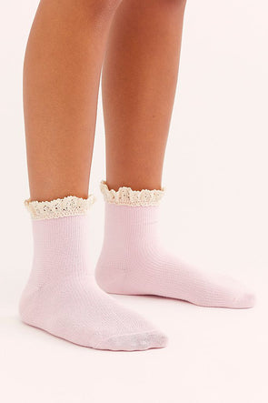 Free People Beloved Waffle Knit Ankle Socks