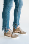 Melody Wedge Sneaker in Taupe - Robbie + Co.