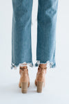 Free People Maggie Mid-Rise Straight-Leg Jeans in Light Stone - Robbie + Co.