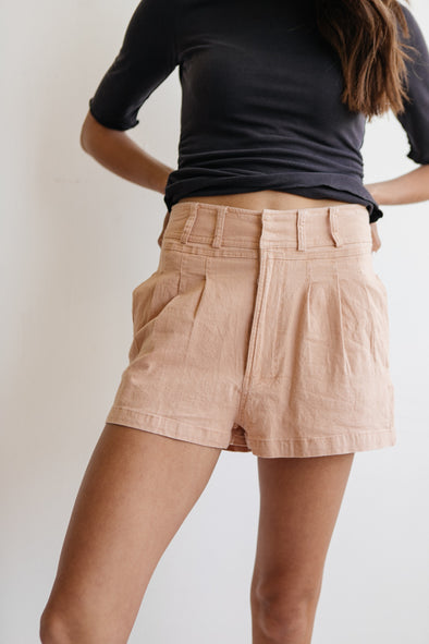 When I Met You In The Summer Shorts in Wood Rose