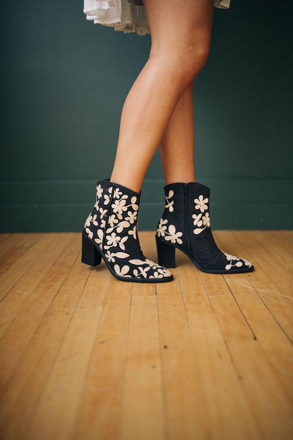 Free People Embroidered Barclay Ankle Boot