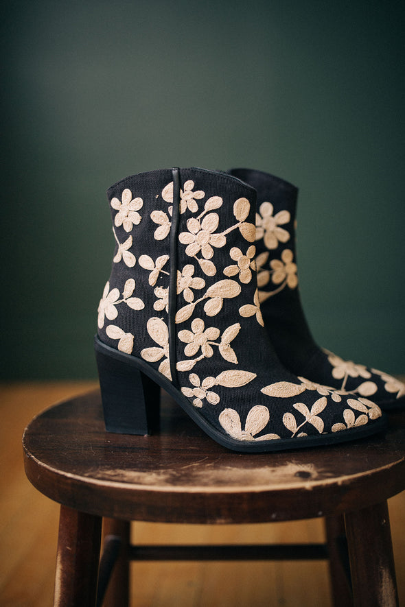 Free People Embroidered Barclay Ankle Boot - Robbie + Co.