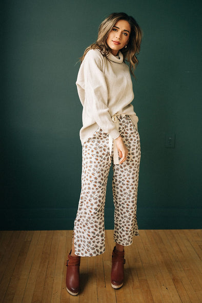 Mumford Wide Leg Pants in Ivory - Robbie + Co.