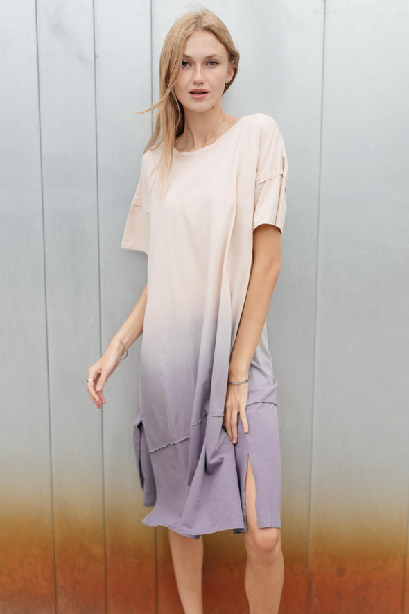 Dip-Dyed Tee Dress