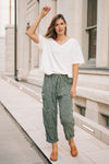 Free People Feelin' Good Utility Pull-On Pants