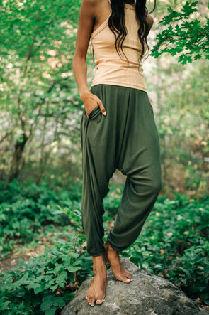 Free People Windy Meadow Solid Harem Pants