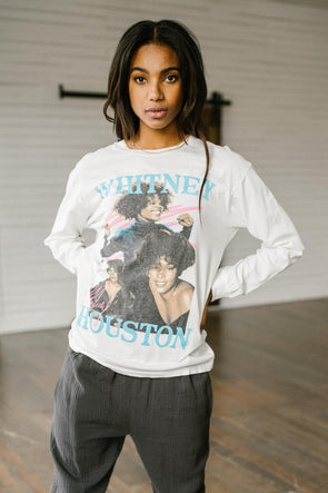 Daydreamer Whitney Houston Dance With Somebody Long Sleeve Tee