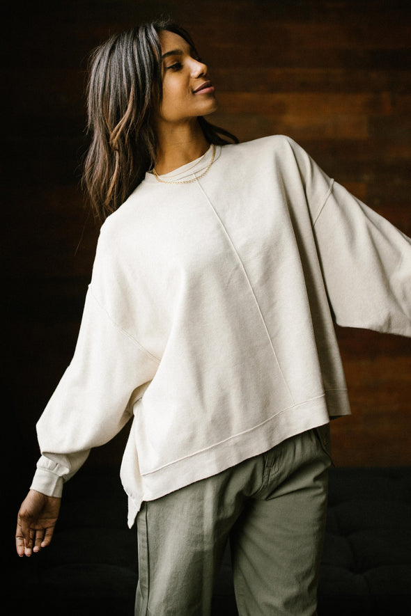 Free People Uptown Pullover in Swaying Birch