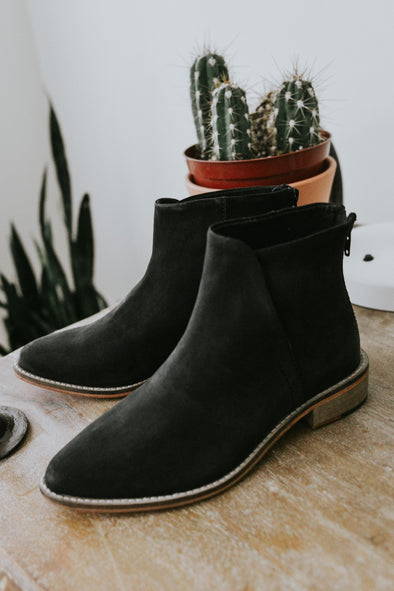 Free People Century Flat Boot in Black - Robbie + Co.