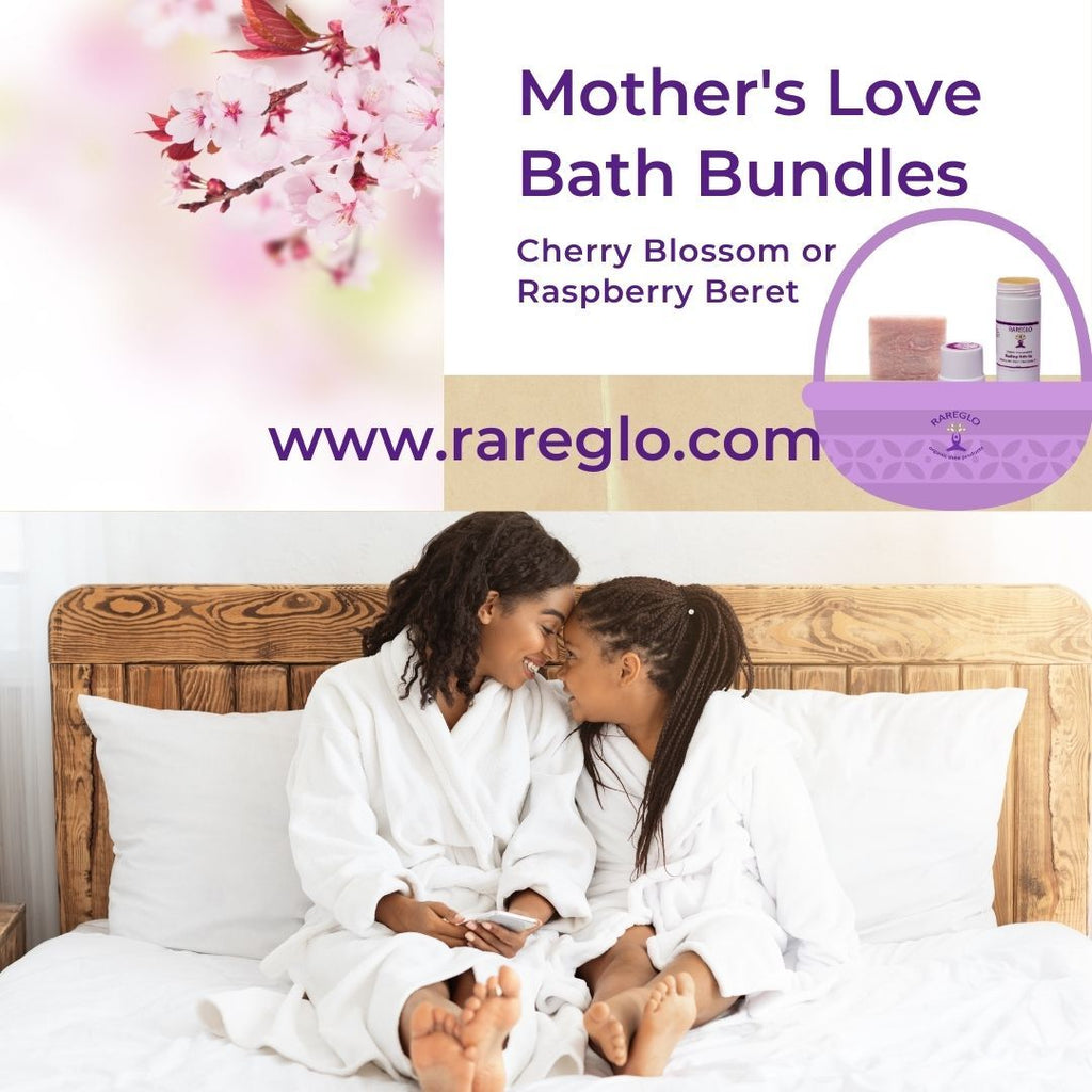 Cherry Blossom Vegan Bath Bundles Just In Time For Mother's Day! | RareGlo Organic Shea Products