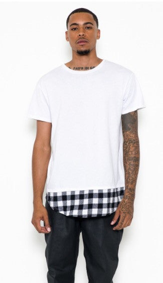Plaid Scoop Tee