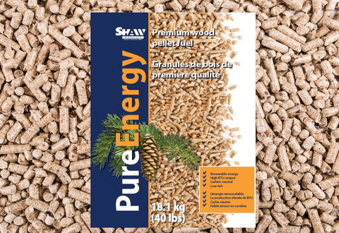 Shaw Pure Energy 40-pound Wood Pellet Bag from Pelleco