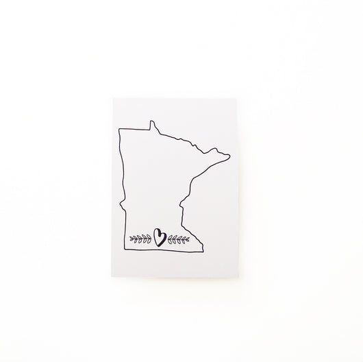 Minnesota Love Print Black & White