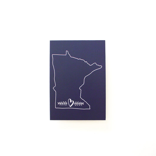 Minnesota Love Print - Navy