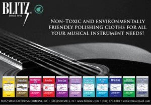 "Music Trades Magazine Can Attest that Blitz, ""Offers more color choices and customization options than any competitor""."
