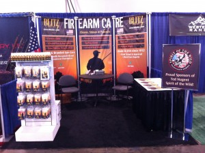 Blitz Firearm Care Trade Show Booth