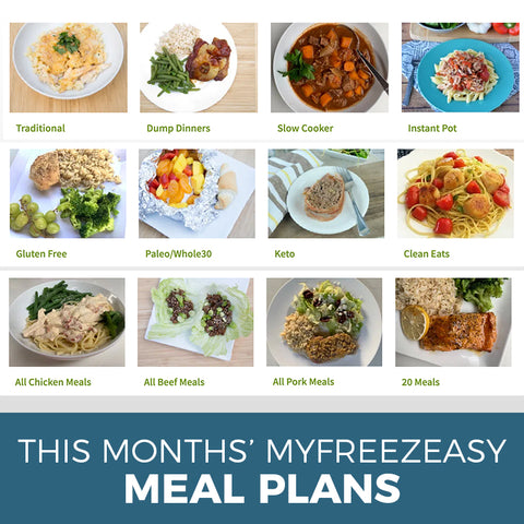 This Month's Freezer Meal Plans