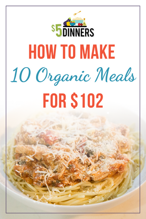 10 Meals for $102 - The All Organic Meals Plan