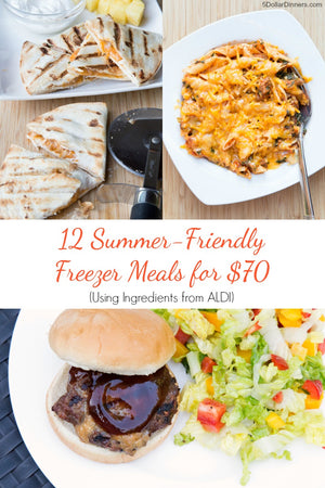 12 summer meals for $70 using ingredients from Aldi