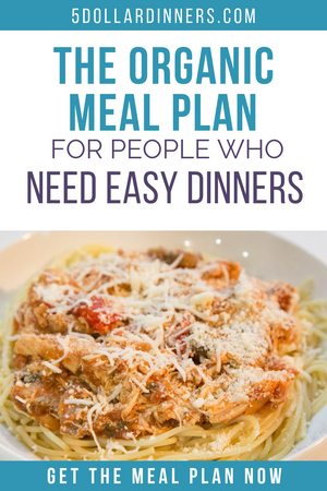 make ahead organic meal plan