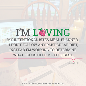 Intentional Bites Meal Planner & Food Journal