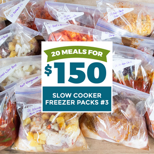 20 meals for $150 slow cooker freezer packs #3