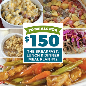 20 meals for $150 the breakfast, lunch & dinner meal plan #12