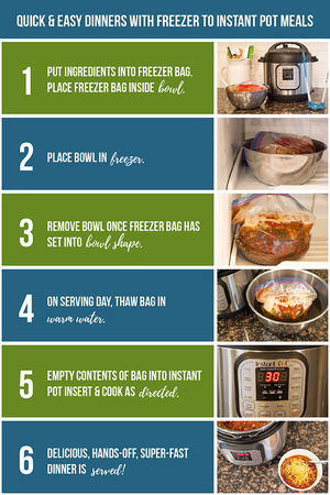 instant pot freezer meals cookbook