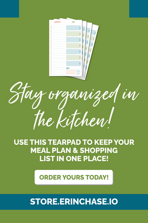 grocery list and meal plan tearpad