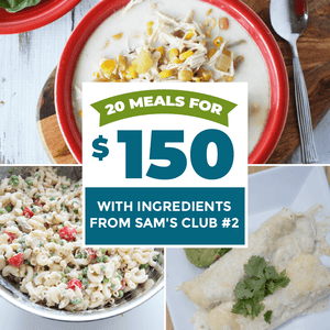 20 meals for $150 with ingredients from Sam's Club #2