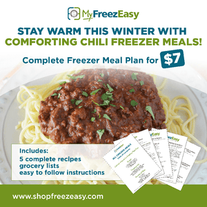Winter 2020: Chili For When You're Chilly Freezer Meal Plan