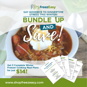 Winter 2020 Freezer Meal Plan Bundle - Soup, Chili, and Taco Meal Plans