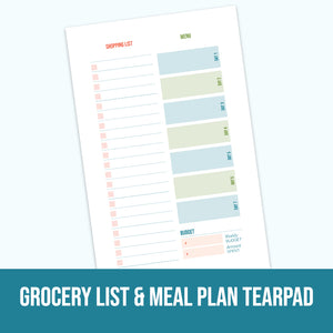 Grocery List & Meal Plan Tearpad