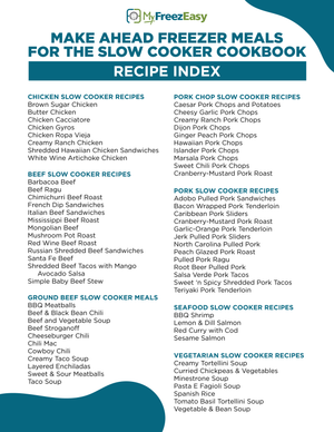 Cookbook - Make Ahead Slow Cooker Freezer Meals