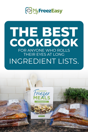 the 5 kit for 5 ingredient freezer meals cookbook by Erin Chase