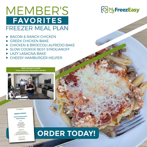 member favorite's freezer meal plan