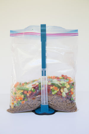 A Set of 2 Freezer Meal Bag Holders