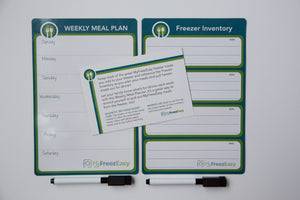 Weekly Meal Plan & Freezer Inventory ~ Set of 2 Magnetic Dry Erase Boards